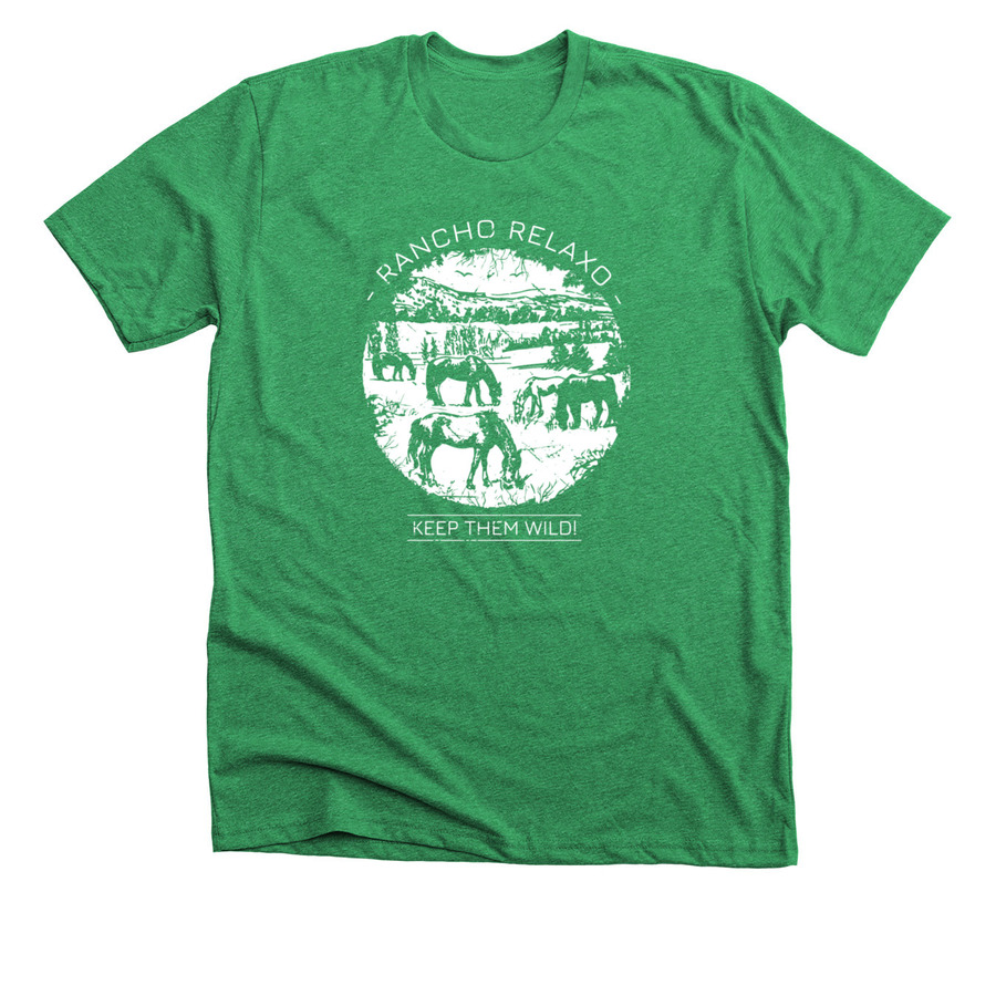 Green T-shirt - Keep Them Wild! - Rancho Relaxo