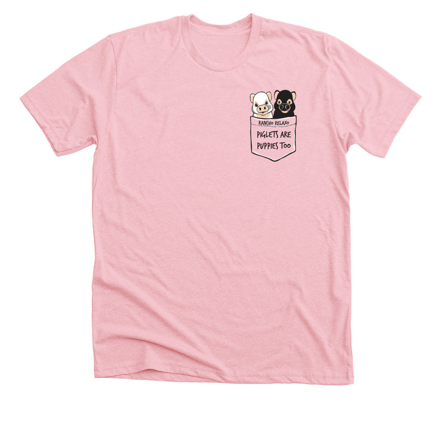 Pink T-shirt - Piglets are Puppies Too